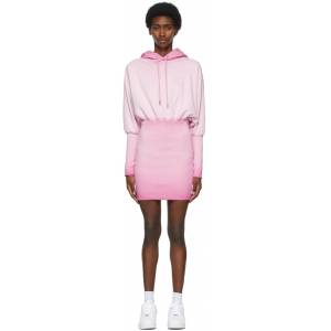 Opening Ceremony Pink Rose Crest Hoodie Dress - S