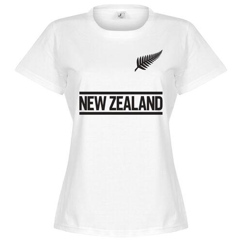 Retake Nieuw Zeeland Team Dames T-Shirt - Wit - S