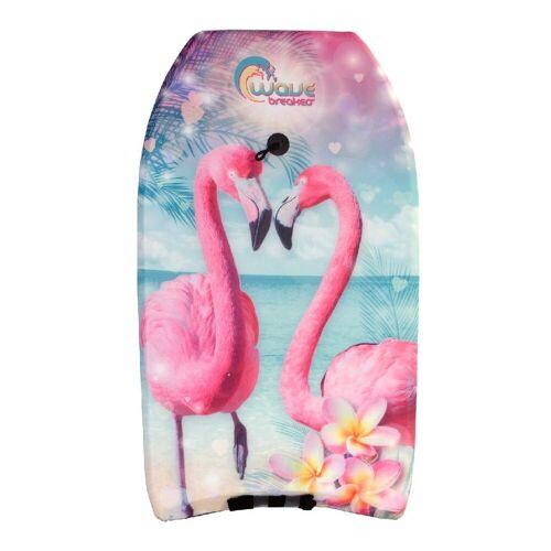 merkloos Bodyboard Flamingo 83cm