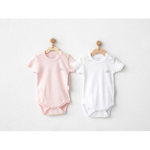 Andywawa Set van 2 Babymeisjes Rompertjes Wit En Roze