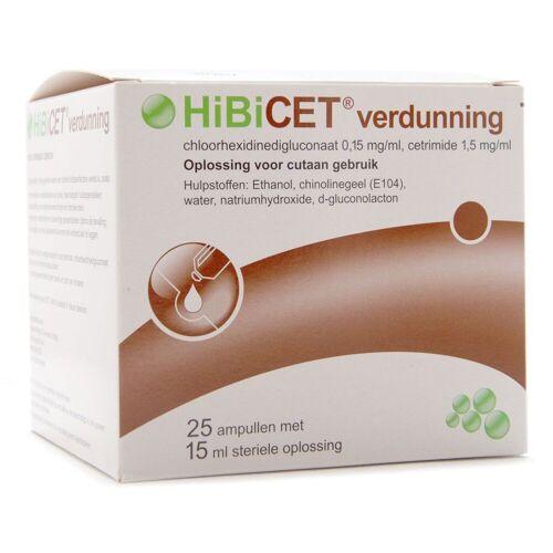 FRAMO HiBiCET verdunning 25 x 15 ml, steriel en gebruiksklaar ontsmettingsmiddel