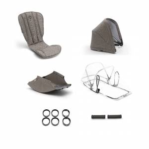 Bugaboo Bee 5 style set compleet  - mineral taupe gemêleerd