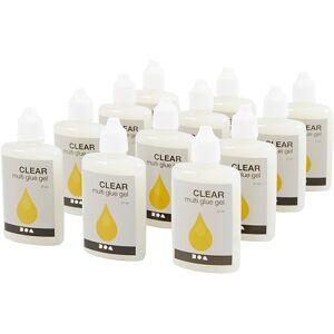 Creativ Company Clear Multi Glue gel, 12x27 ml/ 1 doos