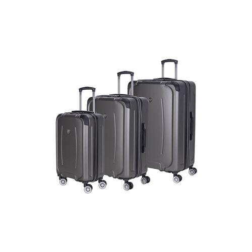 Naduvi Rolling Rollers   Set van 3 Koffers Afrika linnen grijs 61x85x62 cm   koffers   NADUVI