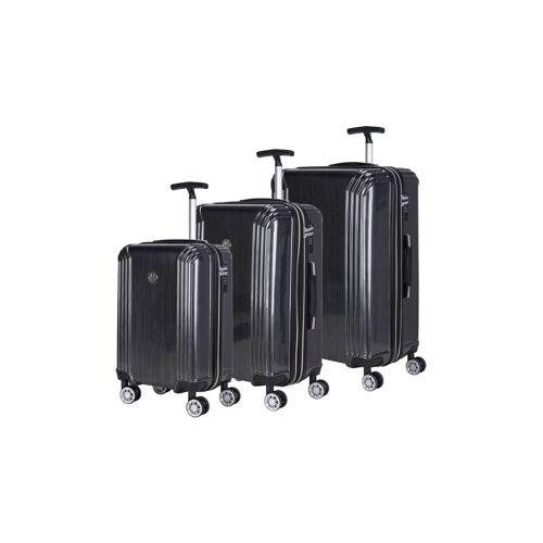 Naduvi Rolling Rollers   Set van 3 Koffers Oceanie linnen grijs 61x85x62 cm   koffers   NADUVI