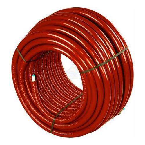 Uponor Uni pipe plus leiding / buis Thermo 20x2,25mm gesoleerd ISO-4 (S4) 4mm isolatie rood op rol E=100m