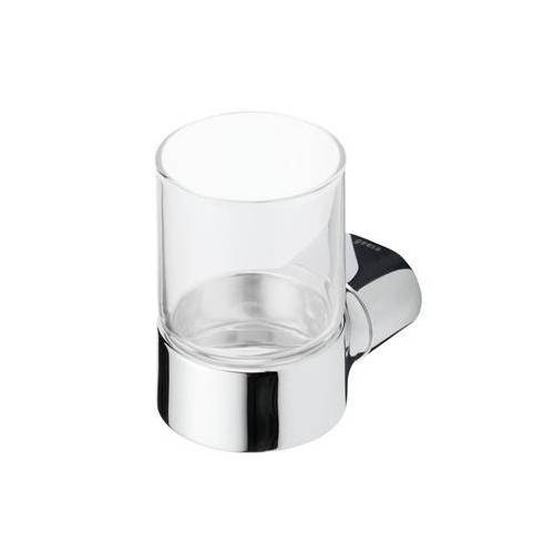 Geesa Wynk glashouder, zamak, verchroomd, met beker, hxbxd 95x68x105mm, kleur chroom