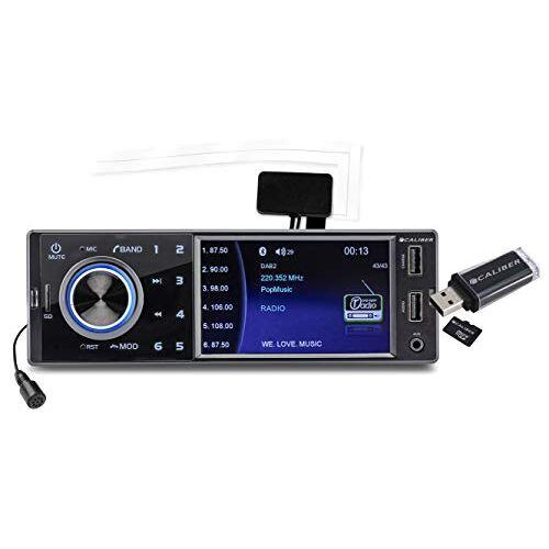 RMD402DAB-BT Caliber  Autoradio 4x75W met USB,SD en Bluetooth