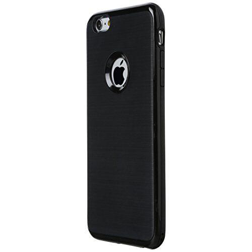 331400000524 Ultratec Smartphone TPU beschermhoes/omhulsel voor iPhone 6 Plus in contrasterende look met gekleurde rand, zwart
