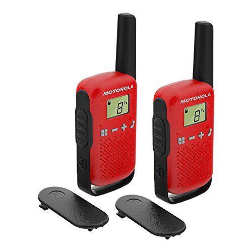T42 RED Motorola Talkabout T42 Pmr446 Portofoon, Set Van 2, Rood