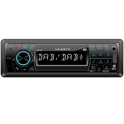 110443_BK Majestic DAB-443 RDS FM/DAB+ PLL autoradio Bluetooth, CD/MP3-speler, USB/SD/AUX-IN, 180W (45W x 4ch), voorklep, inklapbaar, zwart
