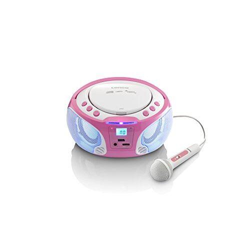 SCD-650PK Lenco SCD CD-speler voor kinderen met karaoke roze
