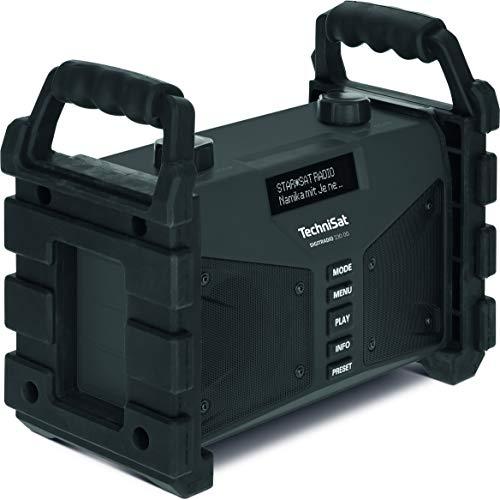 0002/3907 TechniSat Digitradio 230 OD DAB+ bouwplaatsradio (DAB+, DAB, FM, USB, AUX in, Bluetooth, krachtige batterij, favorietengeheugen, 2 x 6 Watt stereo luidsprekers) zwart