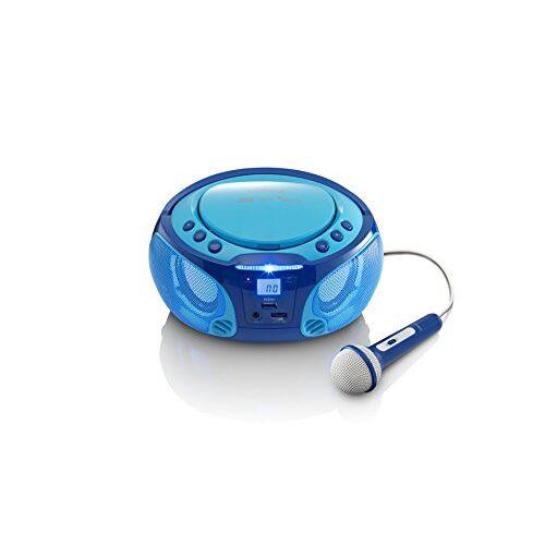 SCD-650BU Lenco SCD CD-speler voor kinderen met karaoke blauw