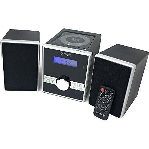 MCA-230MK2 Denver MCA-230 Micro geluidssysteem met PLL-FM-radio, cd-speler en AUX-in, zwart/zilver