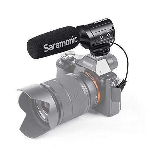SR-M3 Saramonic  mini-microfoon met geïntegreerde verlichting voor DSLR-/camcorder zwart