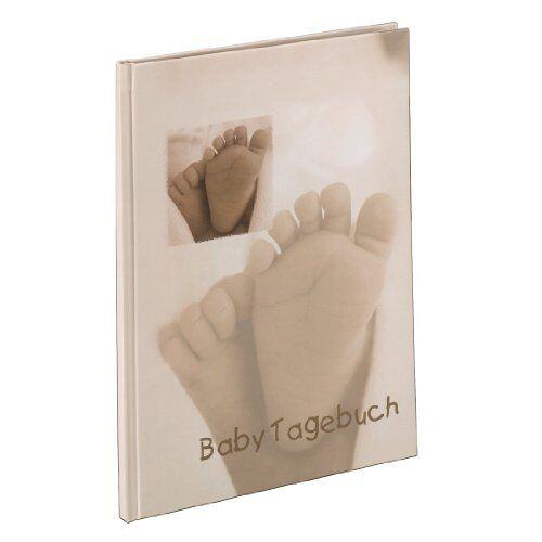 00090115 Hama Babydagboek voor jongens en meisjes (babyalbum met 44 geïllustreerde pagina's, album om zelf vorm te geven) beige