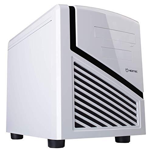 CHA010002 Hiditec   SNOW KUBE Micro ATX-formaat witte computerkast   Mini PC-toren   SECC stalen behuizing   Geweldige koeling   Configuratie met hoge prestaties   Witte desktopchassis