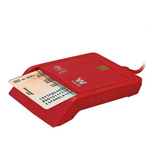 PE26-145 Woxter Dni E-kaartlezer, rood