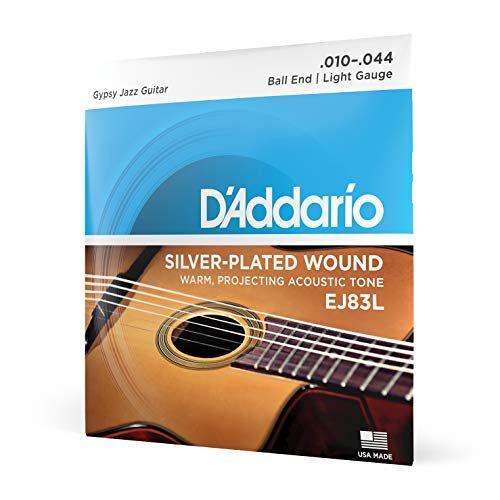 EJ83L D'Addario  Jazz-snarenset voor akoestische gitaren 0,025 cm 0,11 cm (010-044 inch)