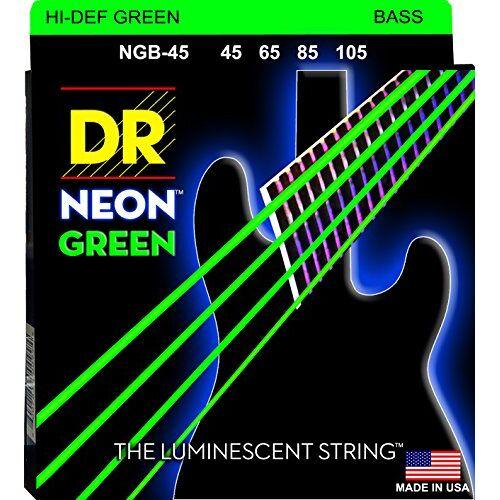 NGB-45 DR String  Neon Green snarenset voor basgitaar