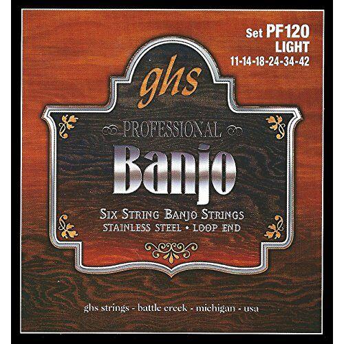 PF120 GHS  Banjo Light snaren, set van 6