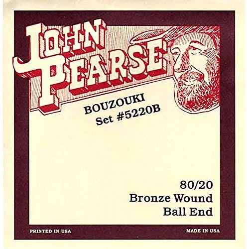 5220B John Pearse Ierse Bouzouki-snaren, licht, met Ballends