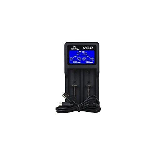 6952918320388 Xtar VC2 2-sleuf USB-lader (Micro USB-ingang, LC-display) USB-oplader. zwart