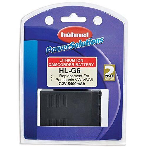 HL G6 Hähnel  Li-Ion batterij voor Panasonic camcorder vervangende batterij voor Panasonic VW-VBG6 zwart