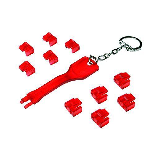 MP0042 Logilink RJ45 1 poort x 10 sloten 1 sleutel 10 sloten rood