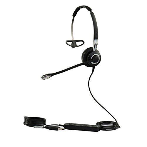 Q711373 Jabra Biz 2400 II Mono USB lichtgewicht callcenter-kabel-headset voor MS Skype for Business, controller met programmeerbare toetsen, NC, 3-in-1-design