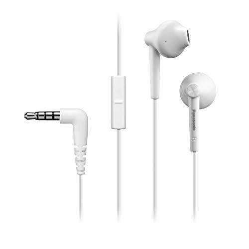 RP-TCM55E-W Panasonic RP-TCM55 Ergonomische in-ear hoofdtelefoon, 14,3 mm driver, krachtige bas, microfoon in lijn, compatibel met smartphone, 1,2 m kabel, wit