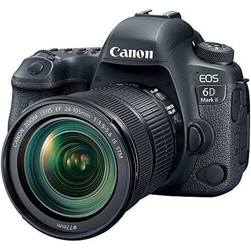 1897C022 Canon EOS 6D Mark II met EF 24105 mm is STM lens WiFi Enabled bagageslot, 2 cm, zwart (zwart)
