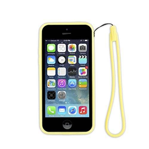 AIIPH5CBM-YL aiino Bumper telefoonomhulsel omhulsel Case Cover voor smartphone Apple iPhone 5C geel