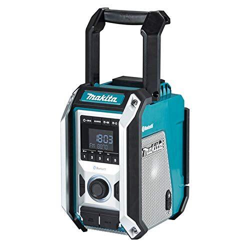 DMR114 Makita  bouwplaatsradio Bluetooth 12 tot 18 V Li-Ion, blauw