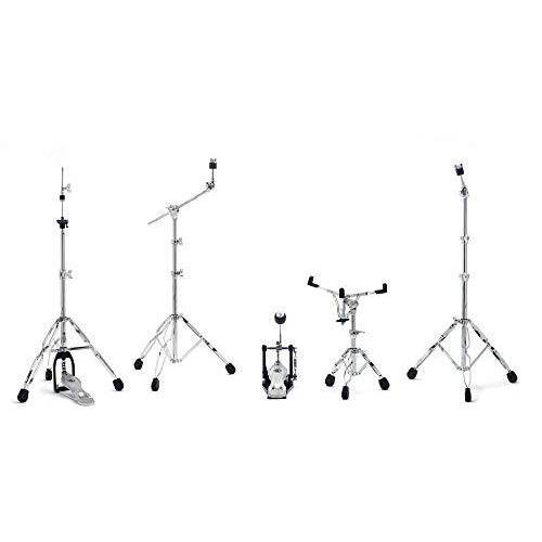 5700PK Gibraltar Hardware Pack , Snare Standaard, Hi-Hat stand, Galgenbekkenstandaard, rechte bekkenstandaard, single pedaal