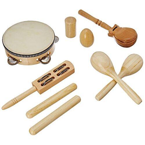 LT7 Delson  Set van 7 slaginstrumenten/percussie-instrumenten, met rugzak