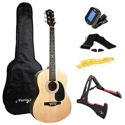 W-101-N-PK Martin Smith  Akoestische gitaar met gitaarstandaard Gitaartuner Gitaartas Gitaarband Gitaar Plectrums en gitaarsnaren