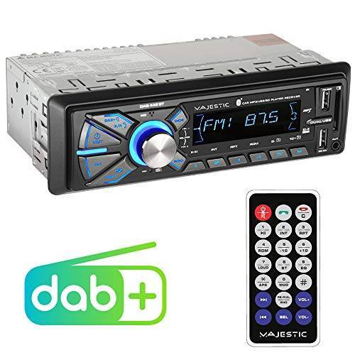 110442_BK Majestic DAB-442 BT RDS stereo/DAB+ PLL autoradio (Bluetooth, Dual USB, SD/AUX-IN, 180W (45W x 4CH) zwart