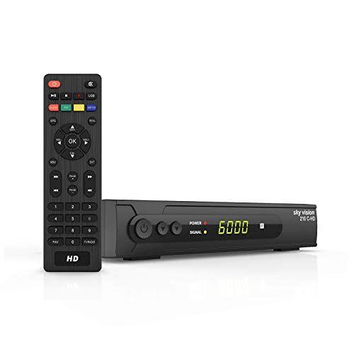 R9621 sky vision DVB C-kabelontvanger 210 C-HD HD-ontvanger voor kabel tv, DVB C-ontvanger voor HDTV, digitale ontvanger voor kabel, HDTV-ontvangerkabel voor Full HD TV en radio