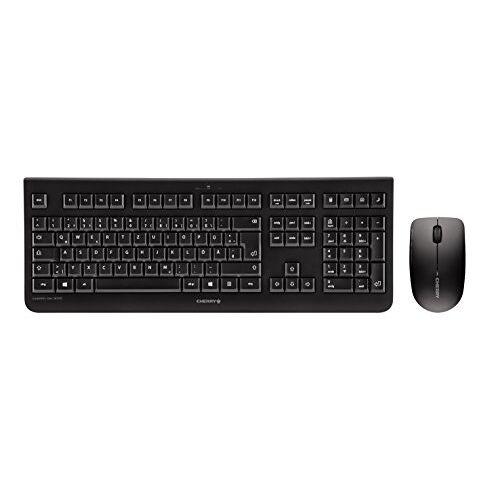 JD-0710DE-2 CHERRY DW 3000, Wireless Tastatur+Maus, 4 Zusatztasten, deutsches Layout, QWERTZ Tastatur, GS-Zulassung, Schwarz