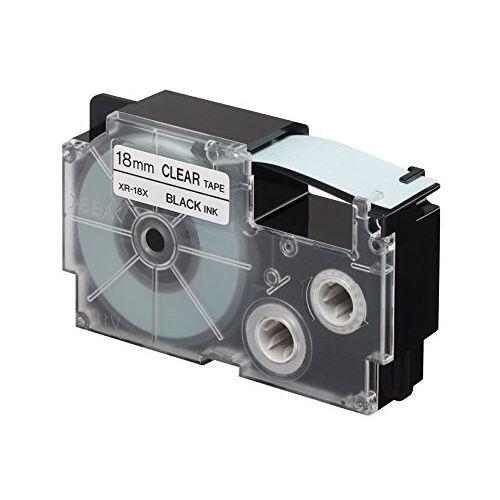 XR-18X1 Casio  etiketteerapparaat, zwart op transparant