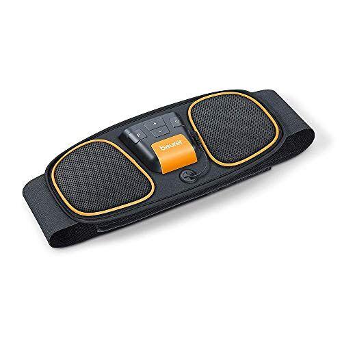 647.02 Beurer EM 32 buikspierriem, voor spierstimulatie, EMS-buiktraining, 2 slijtvaste carbon-elektroden