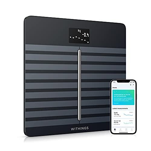 WBS04-Black-All-Inter Nokia Body Cardio Draadloze lichaamsweegschaal voor hartgezondheid en lichaamssamenstelling