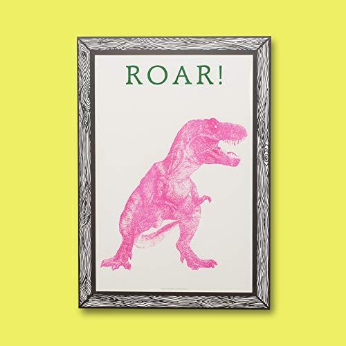 GOODNIGHT LIGHT Poster Dinosaurus Roze A3 21 x 29 Print op papier 250 g Wandposter ingelijste kunstdruk Foto's voor de woonkamer decoratieve poster