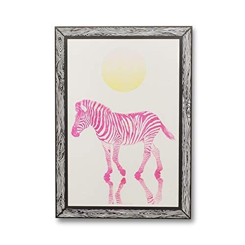GOODNIGHT LIGHT Poster Zebra Rosa Fluo A3 21 x 29 Print op papier 250 g Wandposter ingelijste kunstdruk Foto's voor de woonkamer decoratieve poster