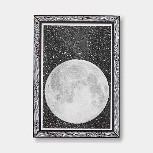 GOODNIGHT LIGHT Poster Luna A3 21 x 29 druk op papier 250 g wandposter ingelijste poster woonkamer decoratie decoratieve poster