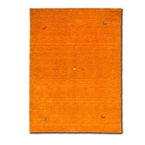 Morgenland Teppiche Morgenland Gabbeh SAHARA tapijt oranje effen dier handgeweven scheerwol 300 x 80 cm loper