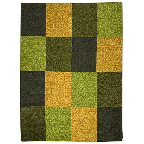 Morgenland Teppiche Morgenland Patchwork tapijt goud handgemaakte laagpolig plat weefsel 300 x 80 cm loper