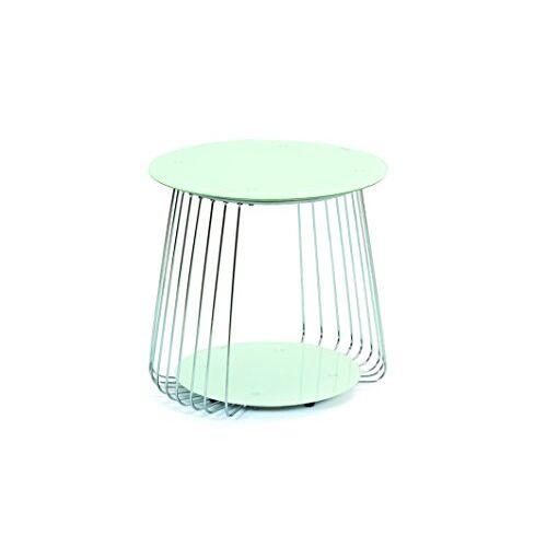 Interlink 50100161 Rivoli salontafel, glas, 50 x 50 x 50 cm, wit